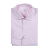 P. Johnson Shirt in Pale Pink Cotton Twill with Spread Collar