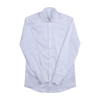P. Johnson Shirt in White Cotton Twill with Spread Collar