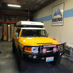 toyota FJ Cruiser with iKamper Skycamp install at Rhino Adventure Gear
