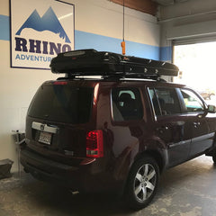 ... rear 3/4 view of 2014 honda pilot with newly installed james baroud discovery roof & Roof Top Tent u0026 Roof Rack Installs at SFu0027s Premiere Overland ...