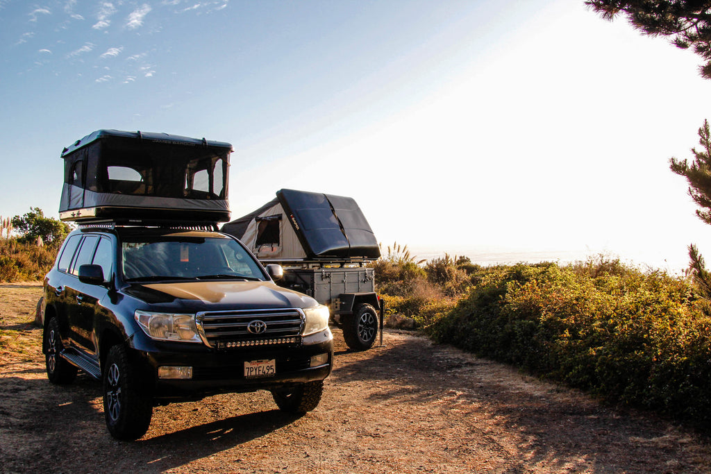 Rhino Adventure Gear roof top tents for overlanding shown off road camping