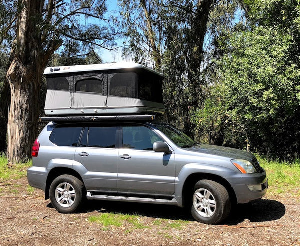 James Baroud Evasion Hard shell Rooftop tent Evasion XXL shown open on GX470