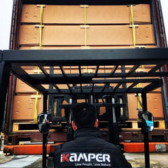 truck unloading shipping cargo for free shipping on iKamper roof top tents