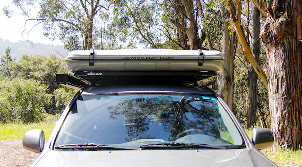 James Baroud Evasion XXL mounted with Side Awning on Pioneer Platform Roof Rack