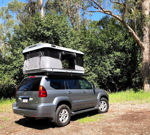James Baroud Evasion Evo XXL Rooftop Tent with Side Awning mounted on Lexus GX470
