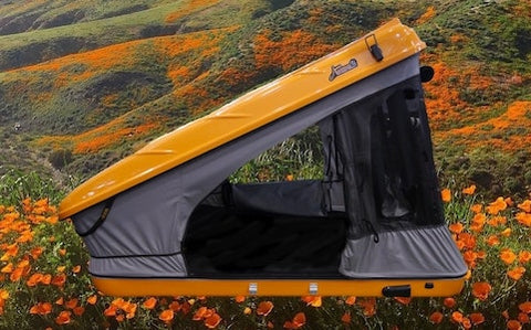 James Baroud Custom Orange Color Roof Top Tent