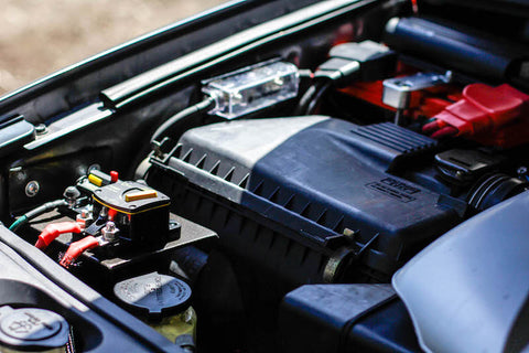 Dual Battery setup under the hood for GX470 Overland Vehicle