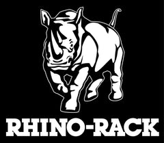 Rhino Rack logo of rhino. Rhino Rack Roof Racks and accessories are available at Rhino Adventure Gear