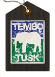 Tembo Tusk Skottle Kit Manufacturer's logo of white elephant on blue and green background
