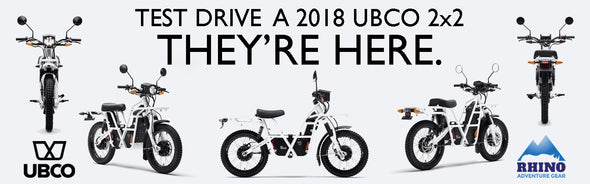 5 angles of Ubco 2x2 2018 street legal off road electric motorbike now available for a test drive at Rhino Adventure Gear in SF Bay Area, CA