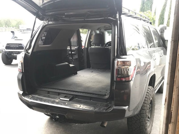Toyota 4Runner with Goose Gear Low Profile Sleeping Platforms and Rear Cargo Base Plate installed