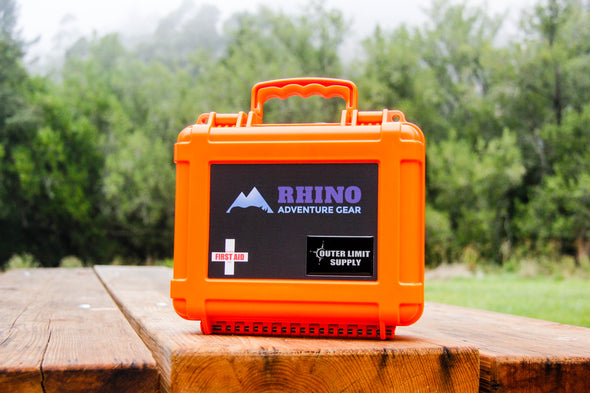 Daytripper First Aid Kit for overland adventures contained in heavy duty waterproof orange case