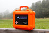 Daytripper First Aid Kit for off road adventures contained in heavy duty waterproof dustproof orange case