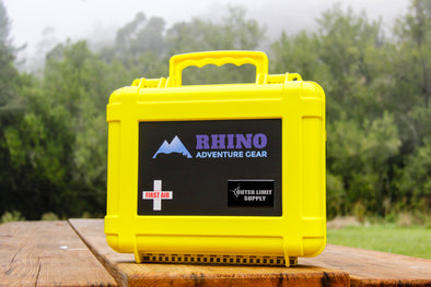 Weekend Warrior First Aid Kit for overland adventures contained in heavy duty waterproof yellow case