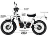 Ubco 2x2 2018 street-legal off-road electric adventure bike available at Rhino Adventure Gear- design features