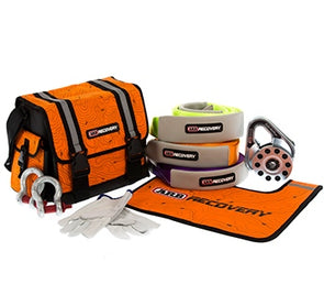 ARB Premium Recovery Kit components pictured beside orange recovery bag