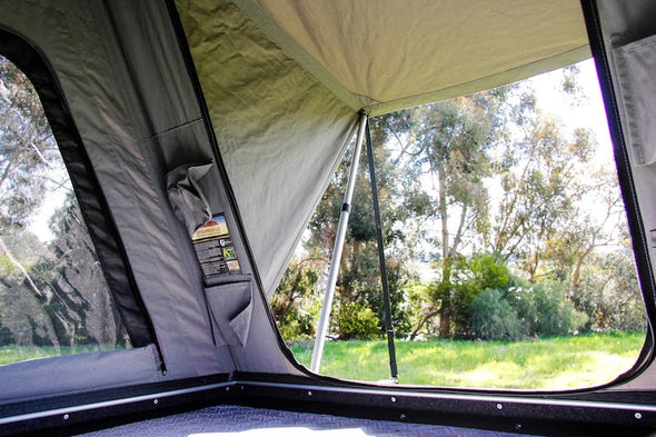 Camp King Aluminum Roof Top Tent interior view