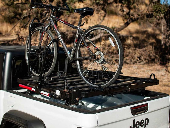 Front Runner SlimLine II Bed Rack for Jeep Gladiator with bike