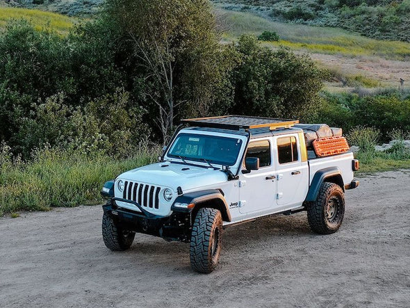 Jeep Gladiator overland build with Front Runner Slimline II Roof Rack Kit