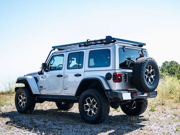 Front Runner SlimLine II Full Size Extreme Roof Rack Kit on Jeep JLU off road