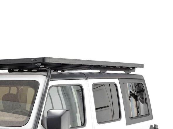Front Runner SlimLine II Full Size Extreme Roof Rack Kit on Jeep JLU side view
