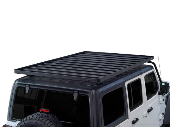 Front Runner SlimLine II Full Size Extreme Roof Rack Kit on Jeep JLU overhead view