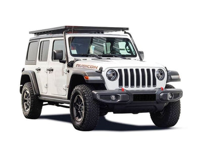 Front Runner SlimLine II Full Size Extreme Roof Rack Kit on Jeep JLU front view