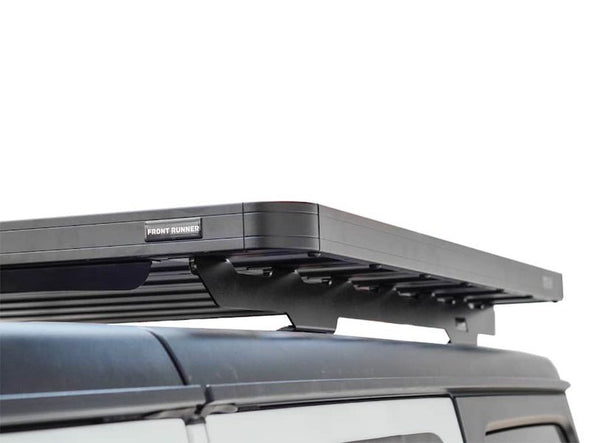 Front Runner SlimLine II Half Size Extreme Roof Rack Kit on Jeep JLU side view