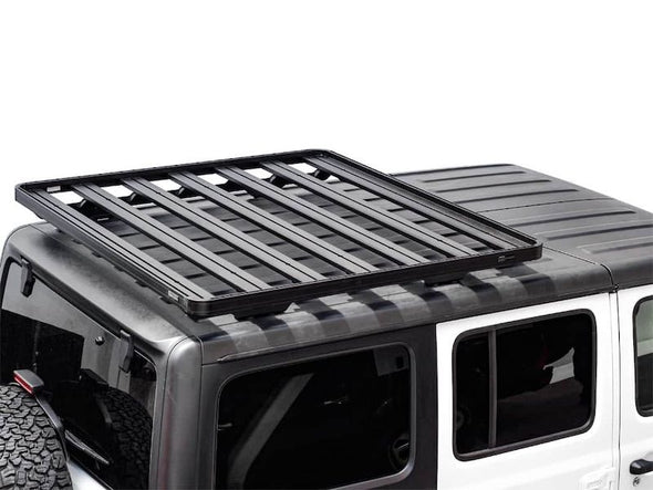 Front Runner SlimLine II Half Size Extreme Roof Rack Kit on Jeep JLU overhead view