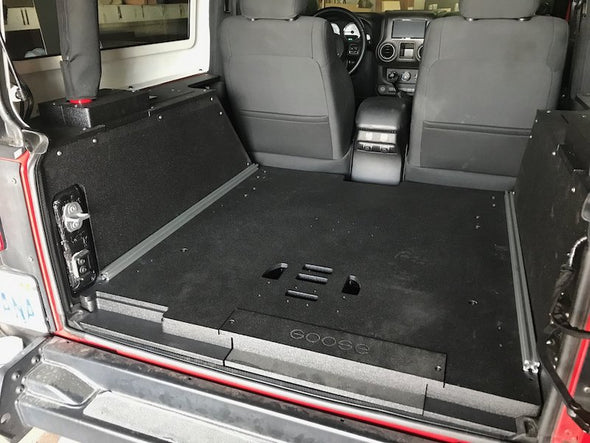 Goose Gear Rear Cargo Mounting Base Plate for Jeep JK- floor subwoofer model