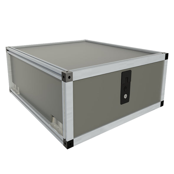 Goose Gear Single Drawer for in vehicle gear organization shown in gray