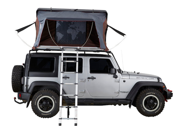 ikamper skycamp 2.0 roof top tent on jeep rubicon open rtt side view