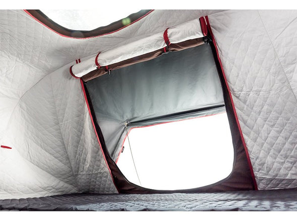 iKamper Skycamp 4X inner insulation liner shown with interior windows rolled up