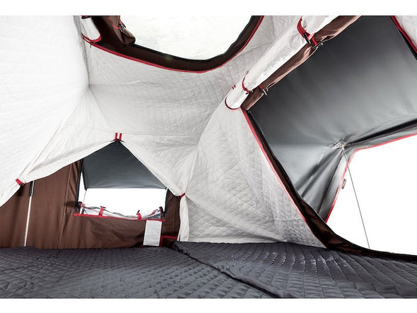iKamper Skycamp 4X inner insulation liner shown in ivory with skylight open