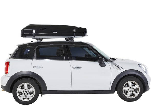 iKamper Skycamp Mini Roof Top Tent shown closed on white Mini Cooper