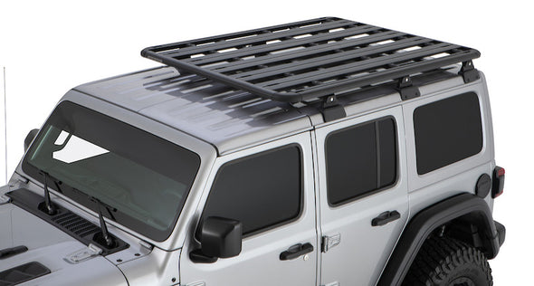Pioneer Platform on Jeep Wrangler JL with Rhino-Rack Backbone skeletal support rack system