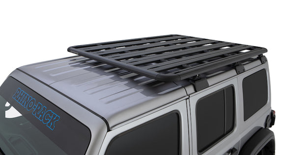 Pioneer Platform on Jeep Wrangler JL Hardtop with Rhino-Rack Backbone skeletal support rack system