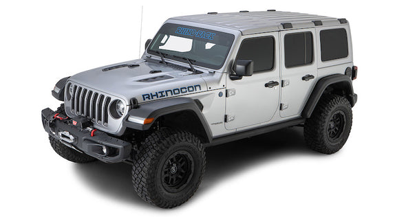 Jeep Wrangler JL Hardtop with Rhino-Rack Backbone skeletal support rack system
