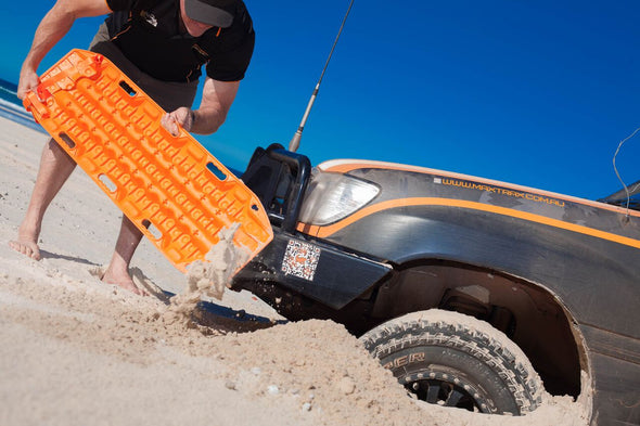 off road recovery with maxtrax board