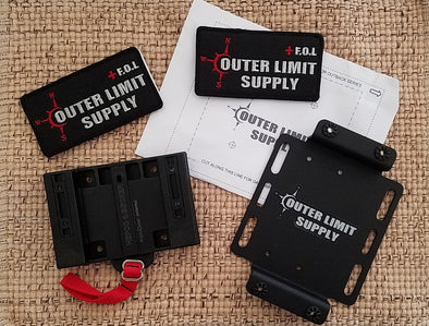 Outer Limit Supply Quick Release Mounting Brackets for First Aid Kits