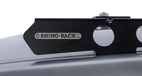 Rhino Rack Backbone Mounting System for Land Cruiser 200 Series detail of Rhino Rack logo