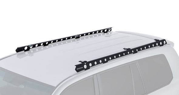 Rhino Rack Backbone Mounting System for Land Cruiser 200 Series installed on roof of vehicle