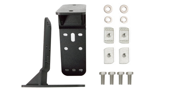 Brackets, nuts, washers, and bolts included in Rhino Rack Batwing Awning Bracket Kit for Tracklander Roof Tray