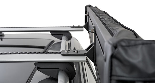 Left Side Mounted Rhino-Rack Batwing Compact Awning- roof rack brackets on crossbars