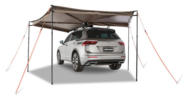 Left Side Mounted Rhino-Rack Batwing Compact Awning- 270 degree awning with guy ropes