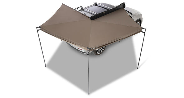 Right Side Mounted Rhino-Rack Batwing Compact Awning- overhead view