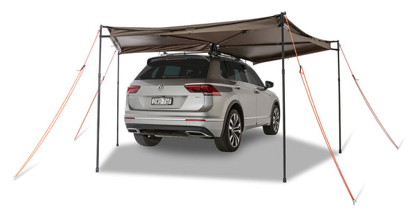 Right Side Mounted Rhino-Rack Batwing Compact Awning- 270 degree awning with guy ropes