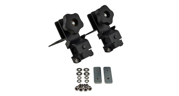 components of rhino rack pioneer shovel mounting bracket kit