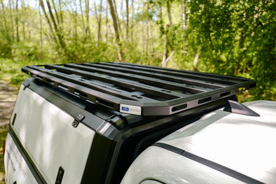 RLD Design platform roof rack for stainless steel truck cap
