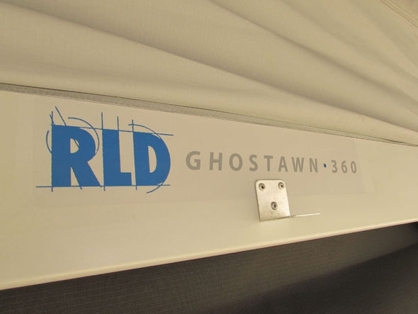 Detail of RLD logo graphic on GhostAwn 360 awning